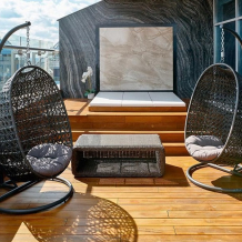 Подвесные кресла из ротанга